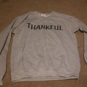 small thankful sweat shirt